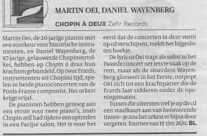 recensie Chopin CD Volkskrant 18-11-2016